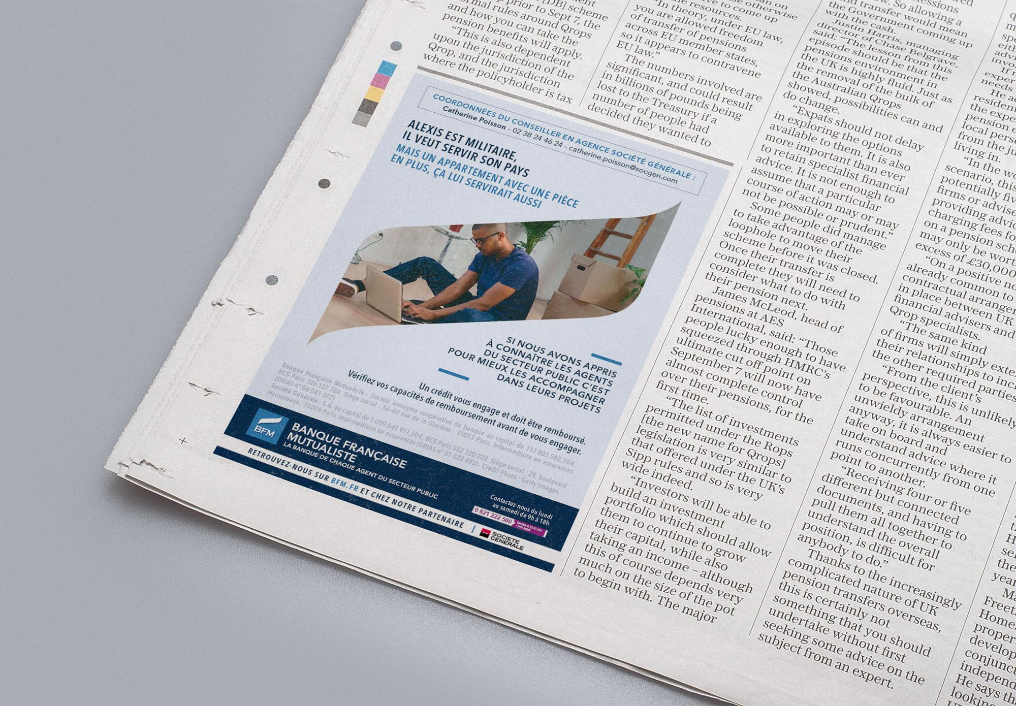 BFM - Banque Française Mutualiste - annonce presse