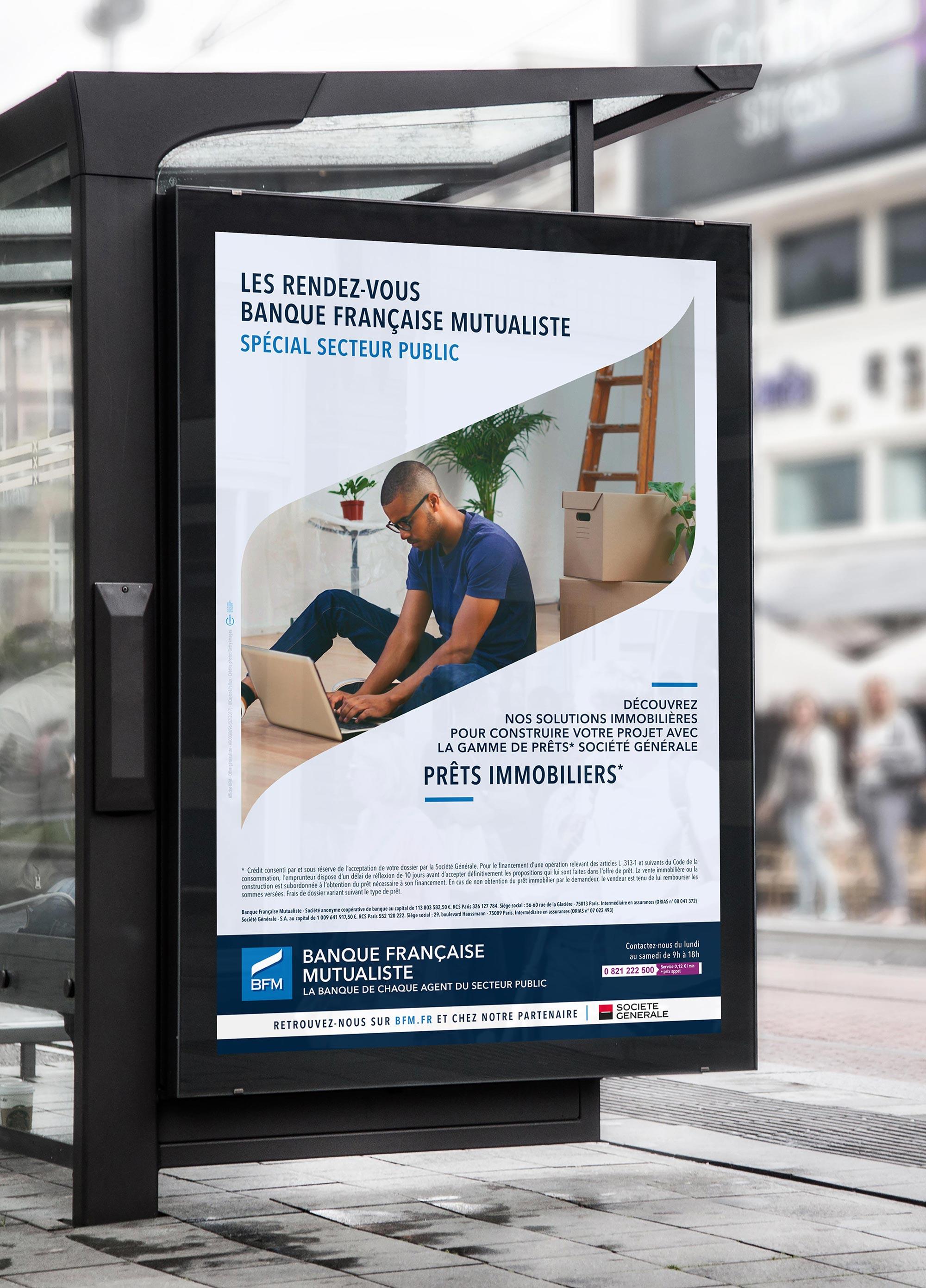 BFM - Banque Française Mutualiste - abribus