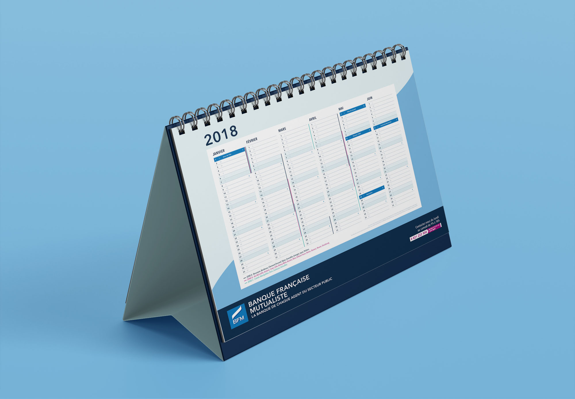 BFM - Banque Française Mutualiste - calendrier