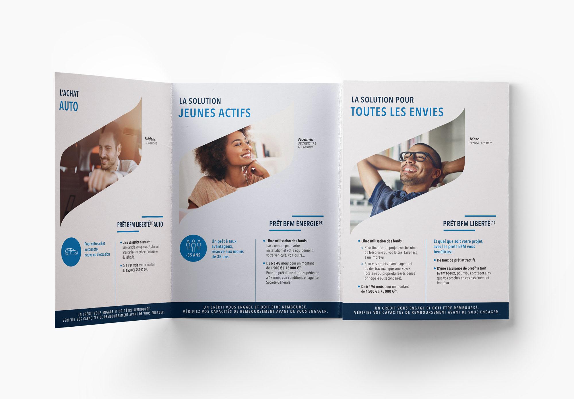 BFM - Banque Française Mutualiste - dépliant commercial