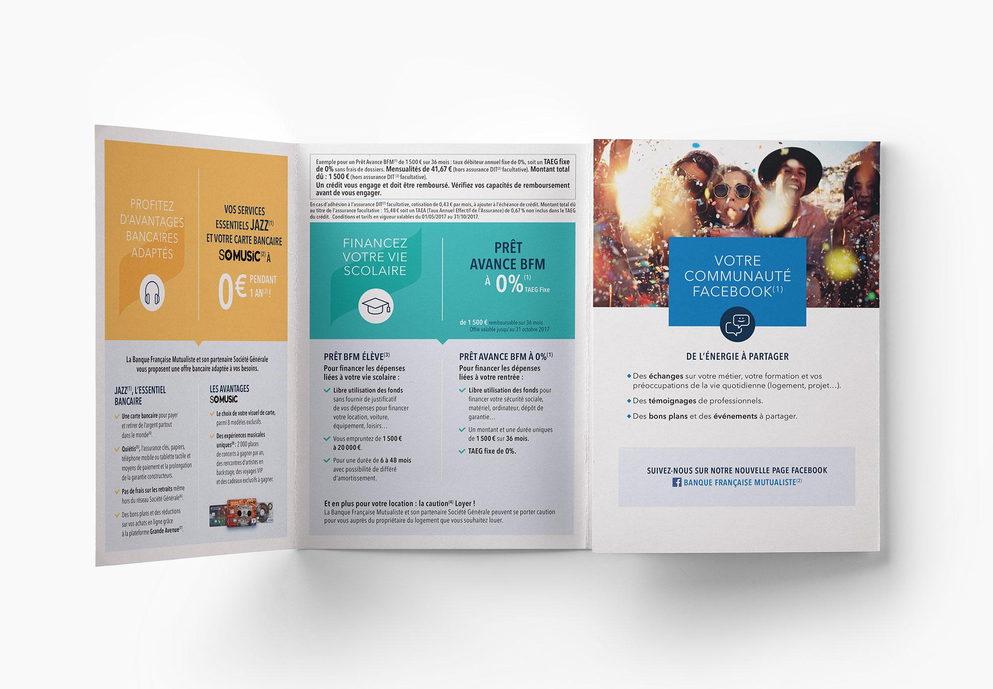 BFM - Banque Française Mutualiste - dépliant offre jeune