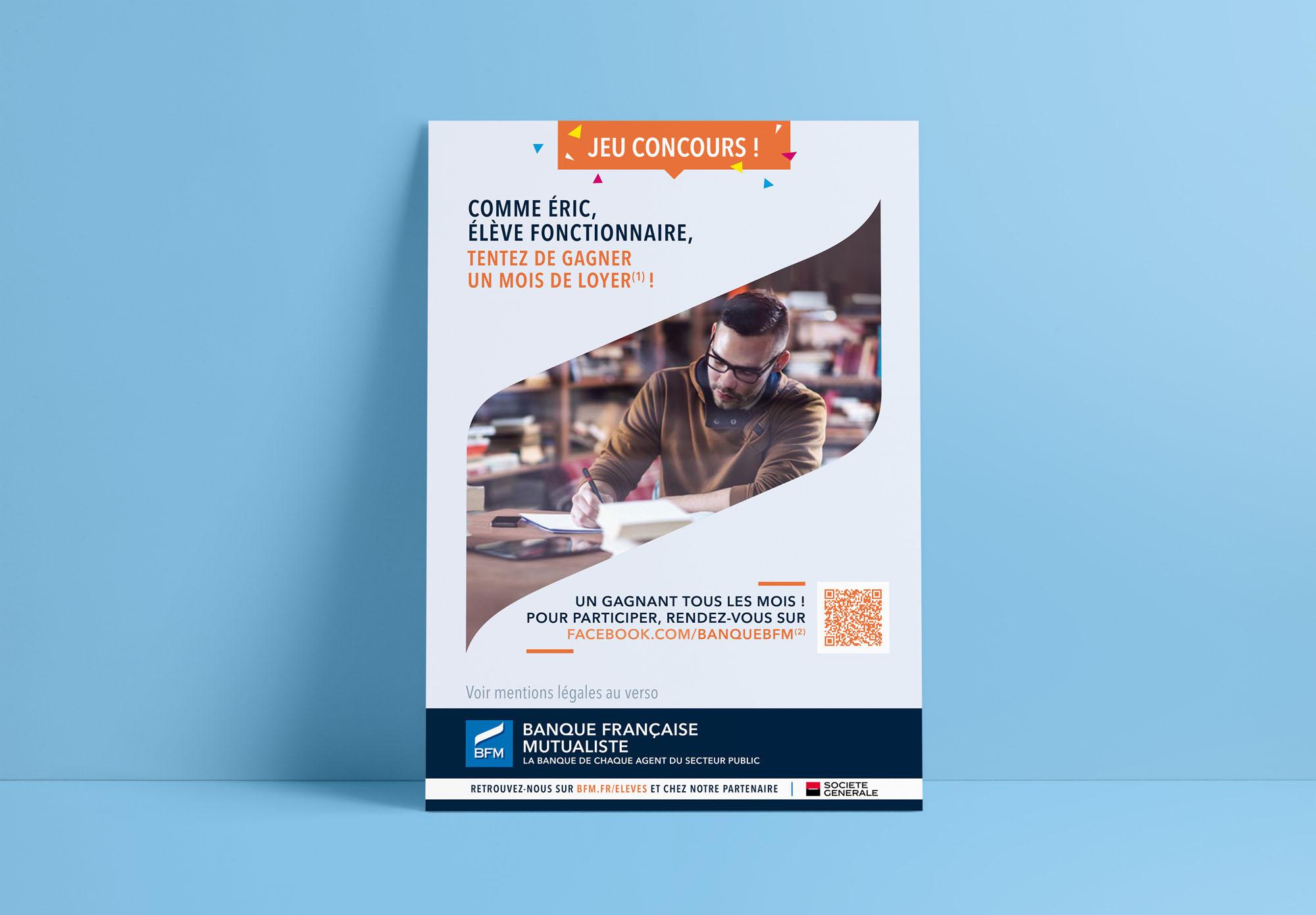 BFM - Banque Française Mutualiste - flyer jeu concours