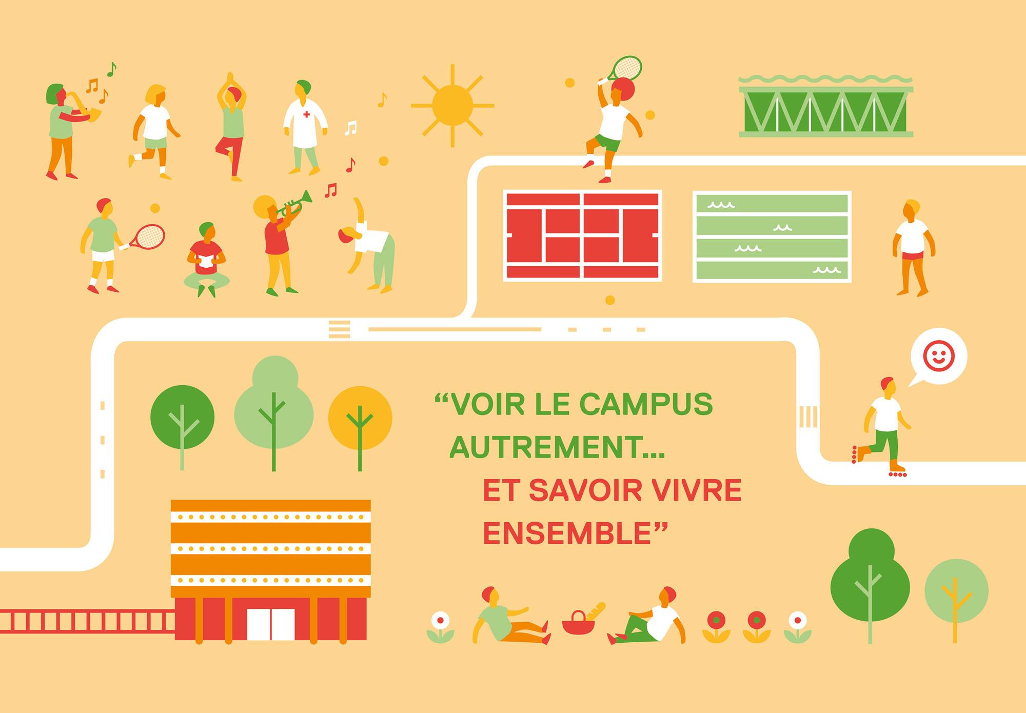 Université Paris Nanterre - carte de vœux - été