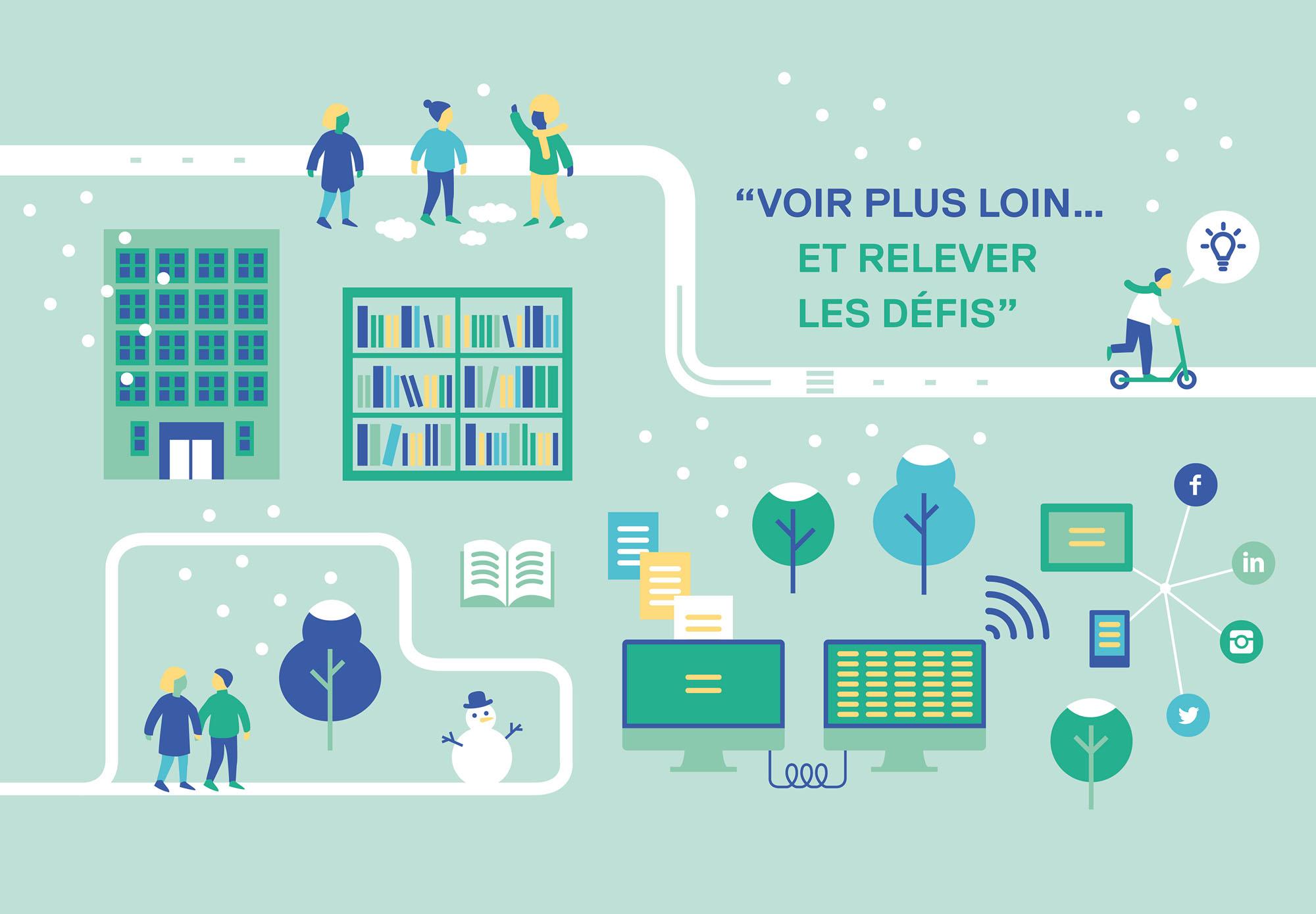 Université Paris Nanterre - carte de vœux - hiver