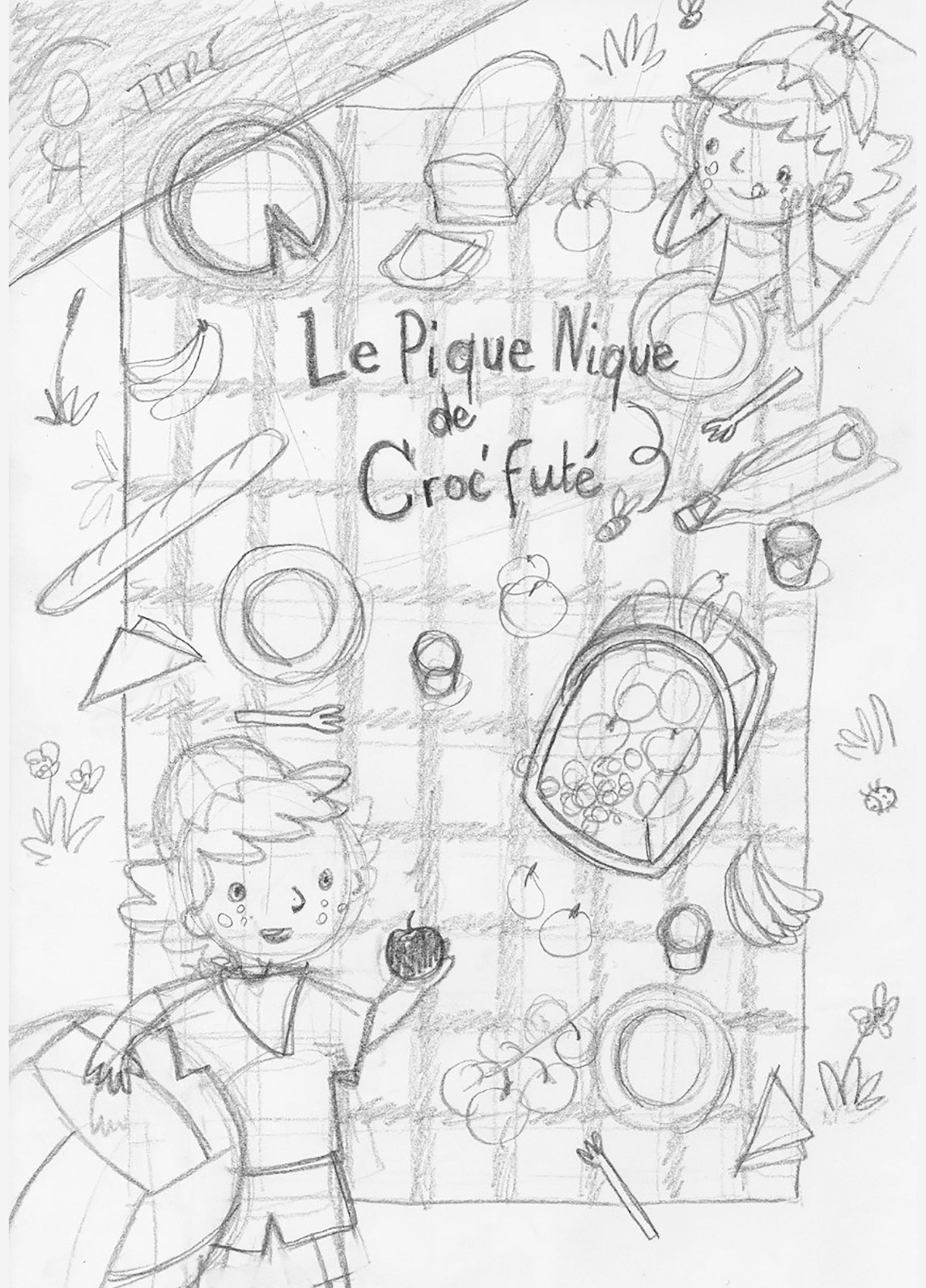 Croc'Futé - rough poster pédagogique - écoles maternelles