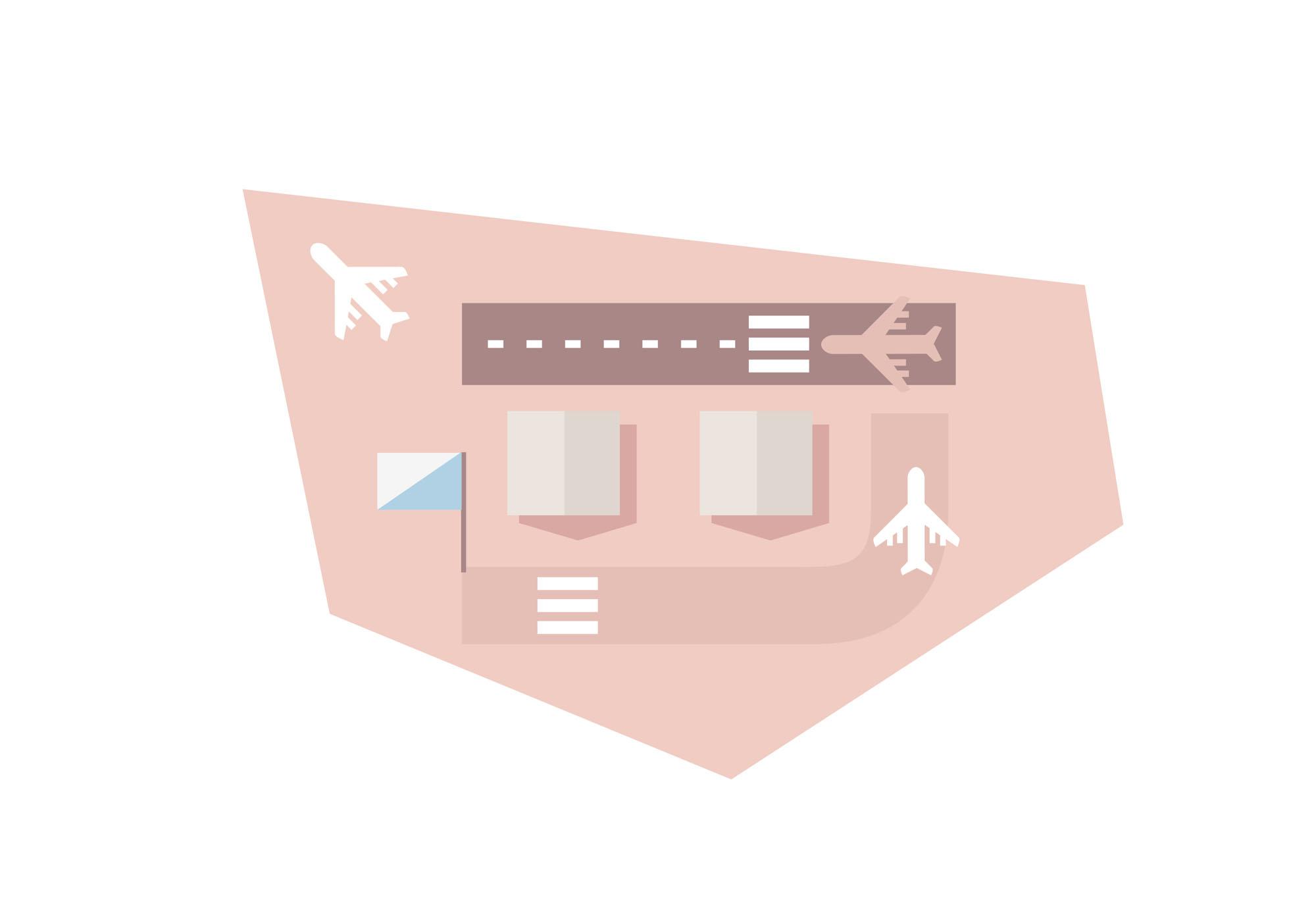 La Rochelle - carte de la ville - aéroport