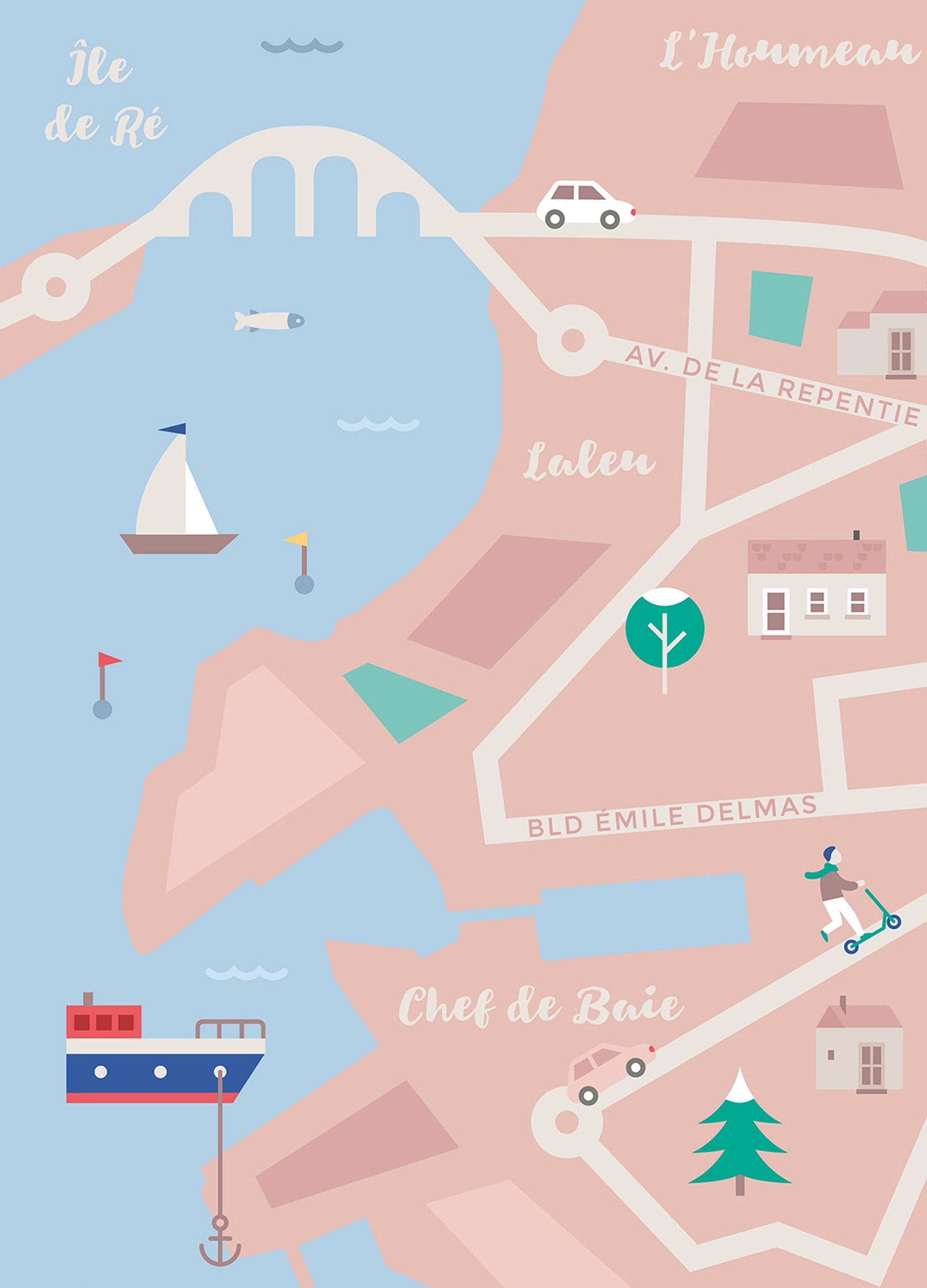 La Rochelle - carte de la ville