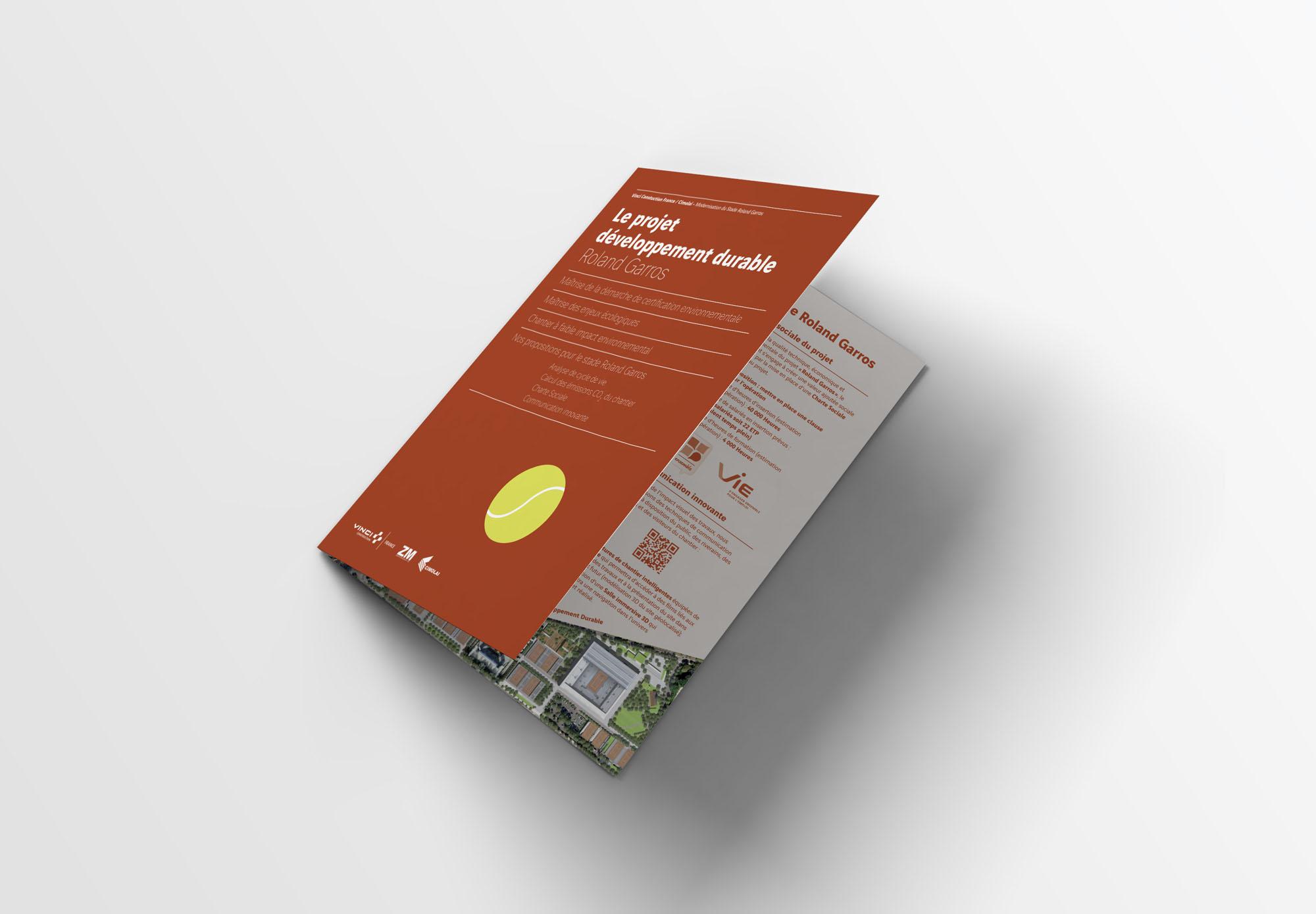 Vinci Construction - appel d'offre Roland Garros - brochure RSE