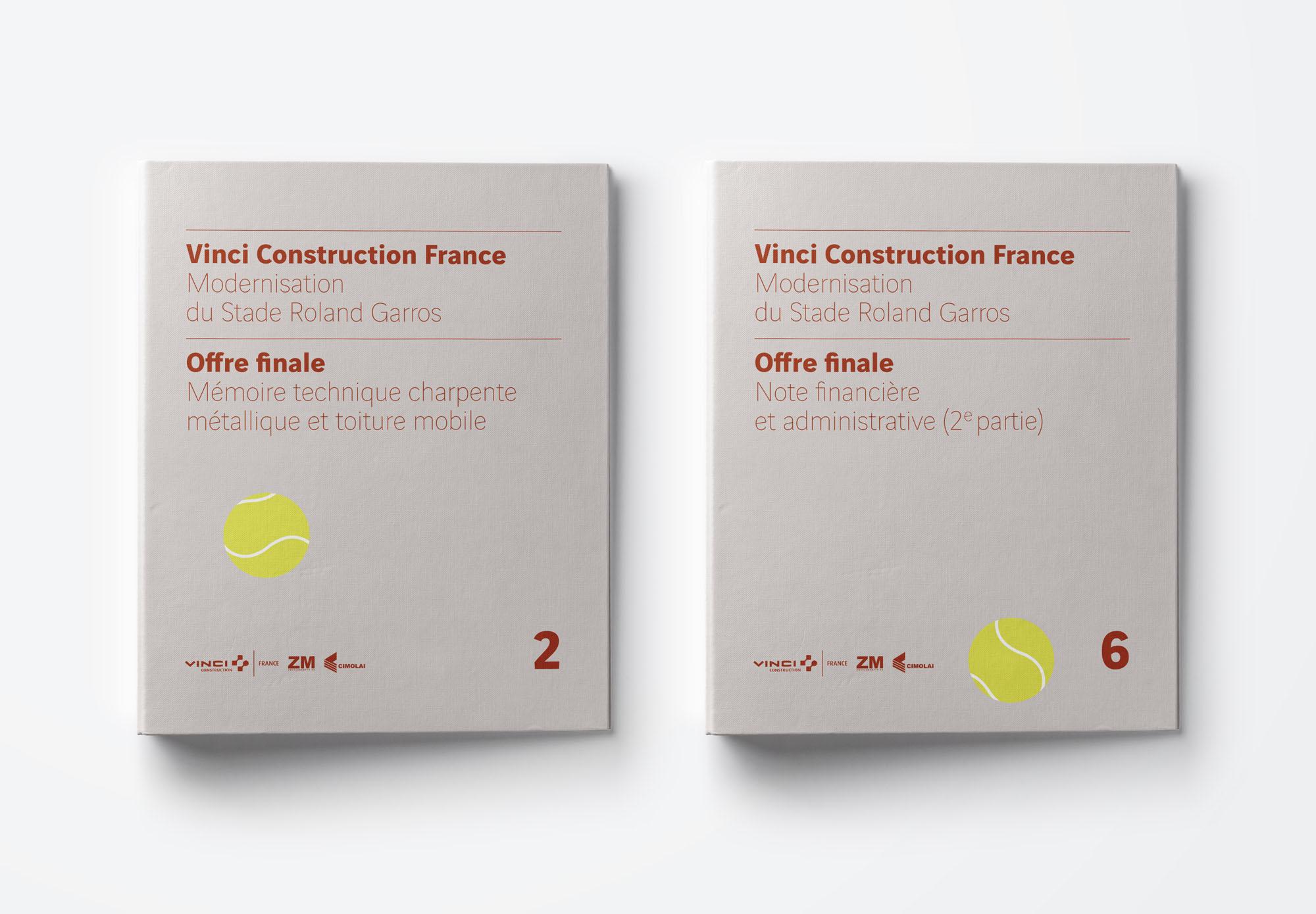 Vinci Construction - appel d'offre Roland Garros - appel d'offre Roland Garros - classeurs