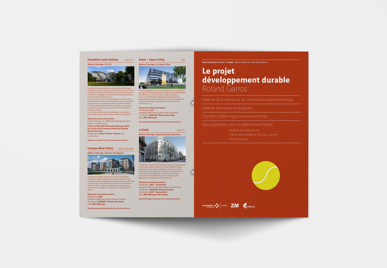 Vinci Construction - appel d'offre Roland Garros - appel d'offre Roland Garros - brochure RSE