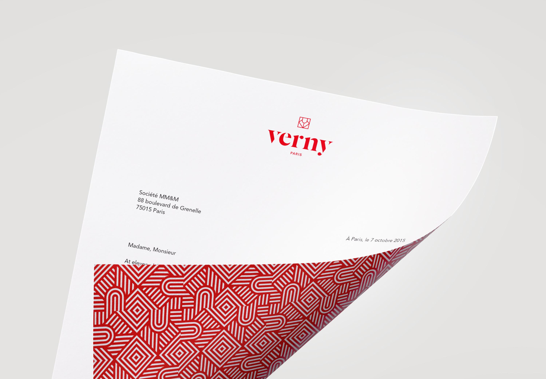 Verny Paris - papeterie - papier entete