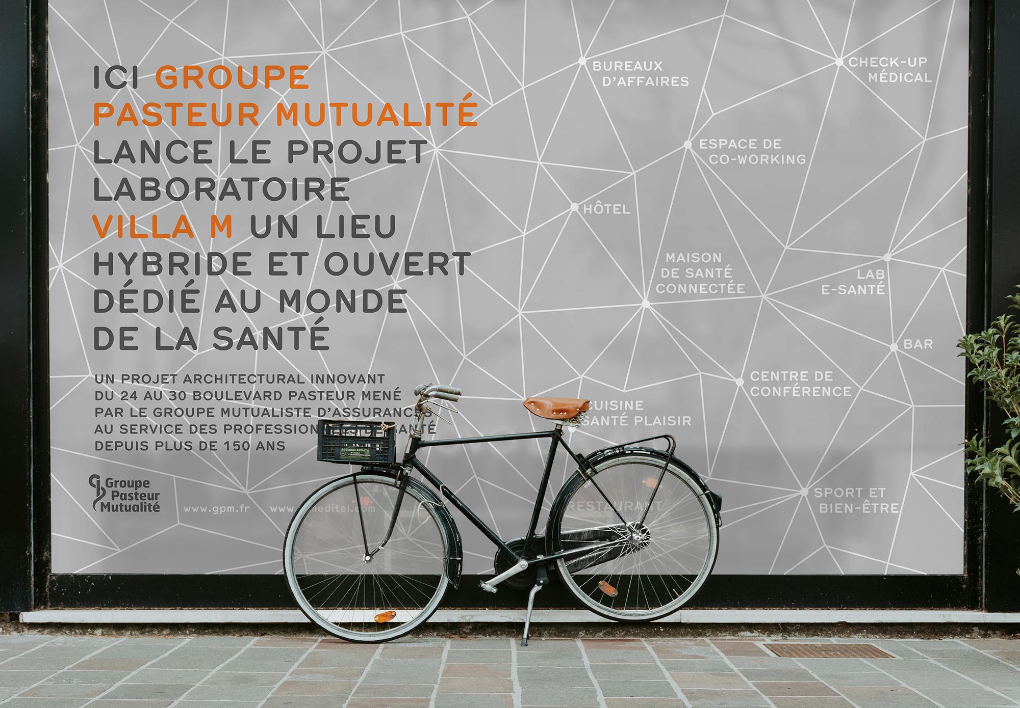 Groupe Pasteur Mutualité -Villa M - habillage chantier