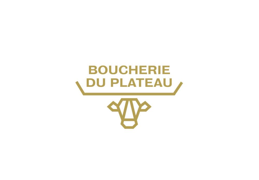 Boucherie du Plateau - Rouen - identité - logotype
