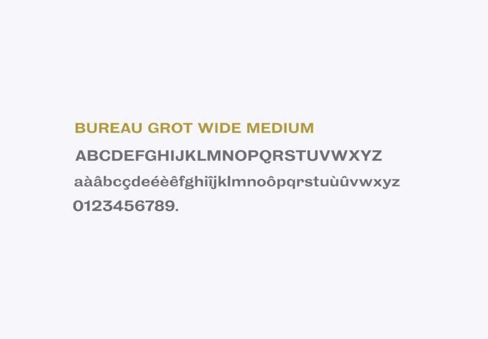 Boucherie du Plateau - Rouen - identité - typographie