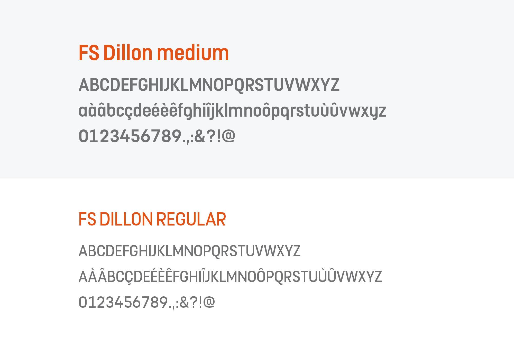 mon stade identité visuelle typographie