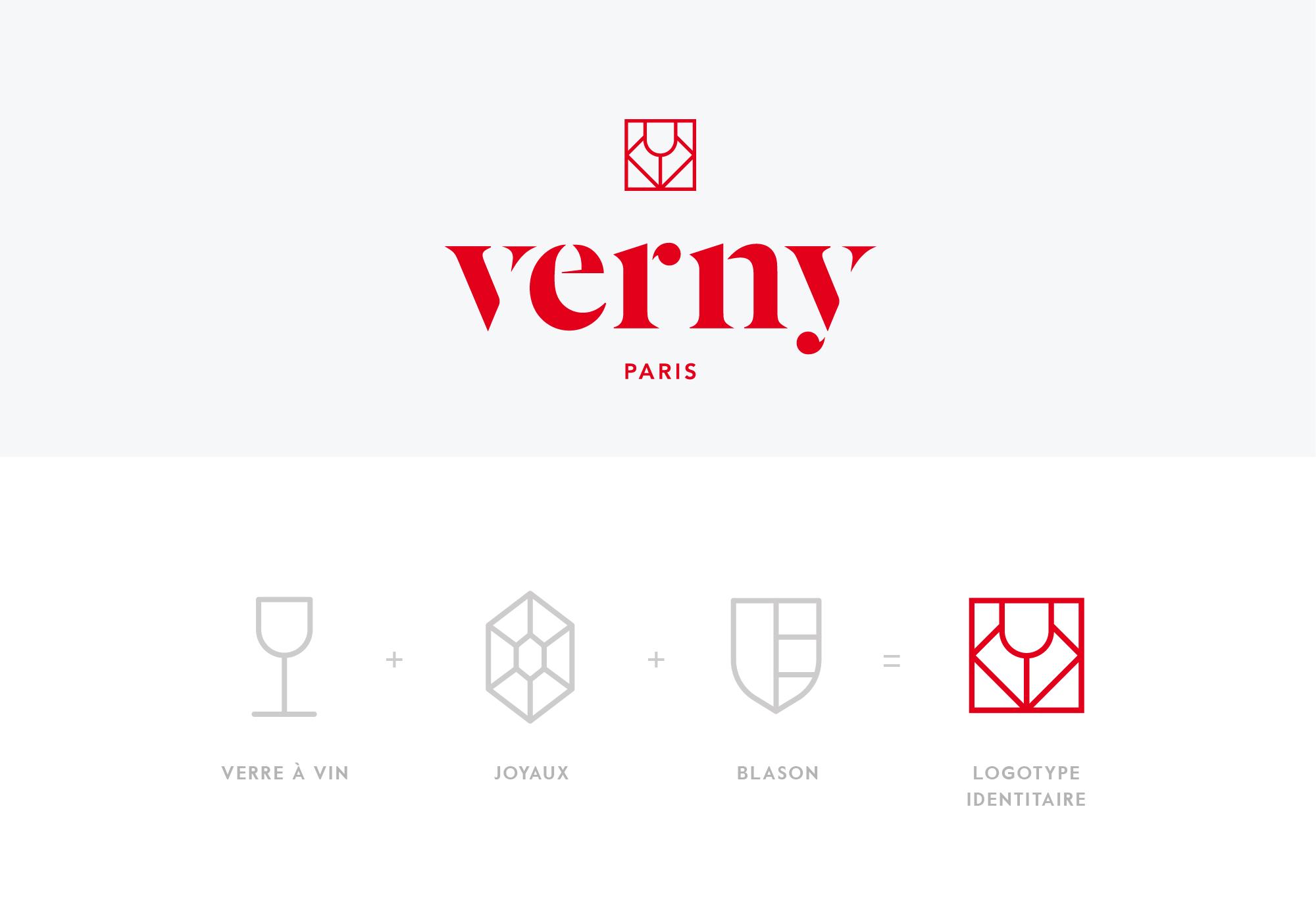verny identité visuelle symbole concept