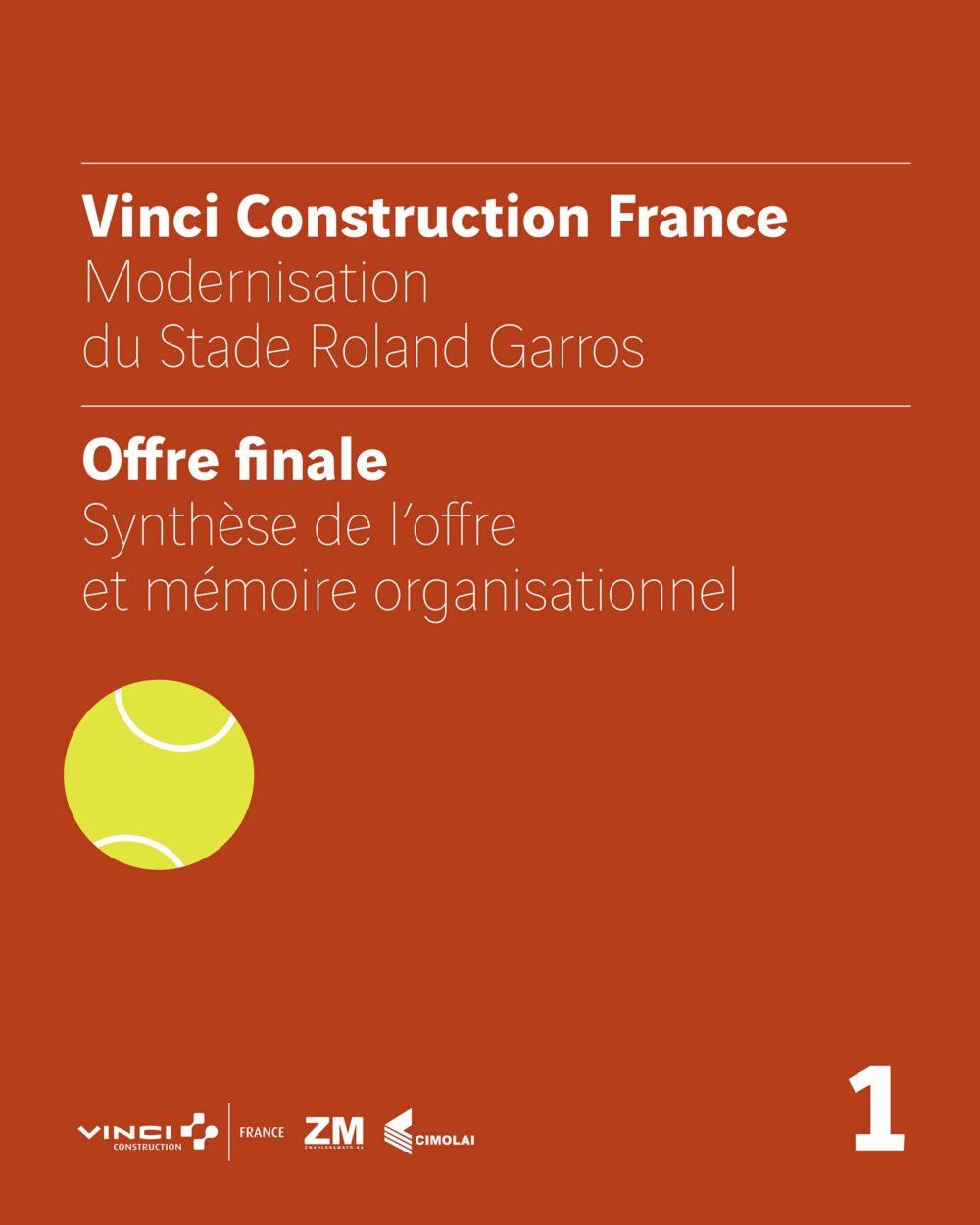 Vinci Construction - appel d'offre Roland Garros - classeur